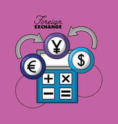 foreign exchange card vector image