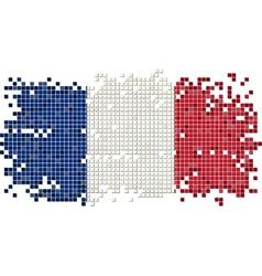 french grunge tile flag vector image