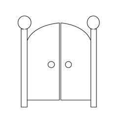 front gate icon design vector image