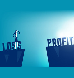 Going from loss to profit business analysis vector