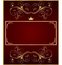 Golden vintage template vector image