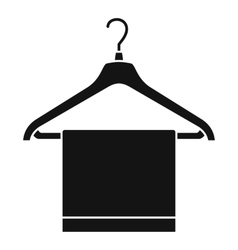 Hanger with cloth icon simple style vector