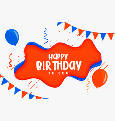 Happy birthday kids card in flat style design vector