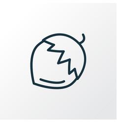 Hazel nut icon line symbol premium quality vector