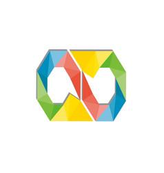 hexagon logo template vector image