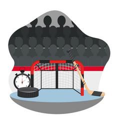 Hockey gear and equipment vector