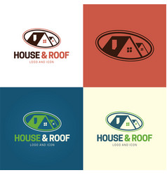house and rologo and icon vector image