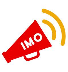 Imo megaphone alert flat icon vector