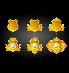 Improving gold rating shields for game vector