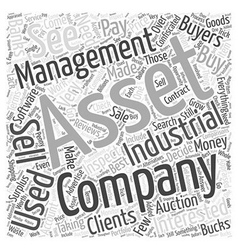 Industrial Asset Management Word Cloud Concept vector