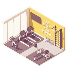 isometric gym interior vector image