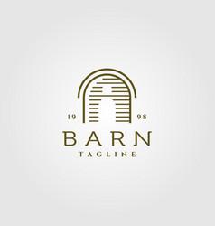 line art barn logo design vector image