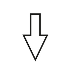 line cursor icon in trendy flat style isolated on vector image