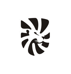 lion shield logo template icon vector image