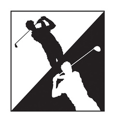 Man playing golf design vector image