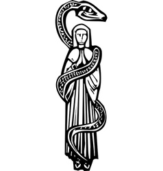 Mary and Serpent vector