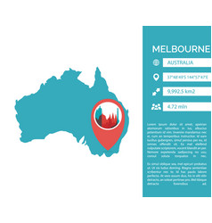 Melbourne map infographic vector