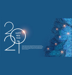 merry christmas and happy new 2021 year holiday vector image