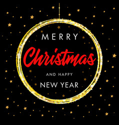 merry christmas and happy new year star banner vector image