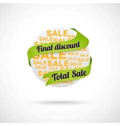 Modern sale badge vector image