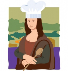 Mona Lisa chef vector image