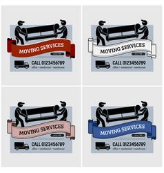 Moving services company logo design artwork of vector