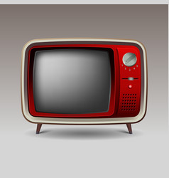 Old red retro television vector