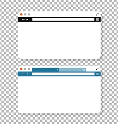 Opened browser window mockup Past your content vector image