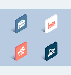 Portfolio add purchase and trade infochart icons vector