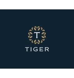 Premium monogram letter T initials logo Universal vector image