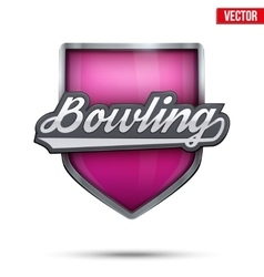 Premium symbol of Bowling label vector