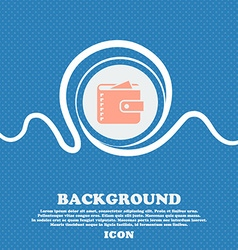 Purse icon sign Blue and white abstract background vector image