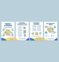 Refer a friend cover design brochure template vector
