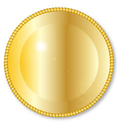 Round golden background vector