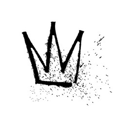 ruling pen crown texture strokes thick paint in vector image