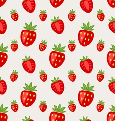 Seamless Pattern of Ripe Strawberry vector image