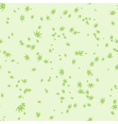 Seamless pattern with stylization leaves of bamboo vector image