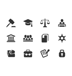 set law and justice icons vector image