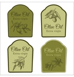 Set of labels for olive oil vector