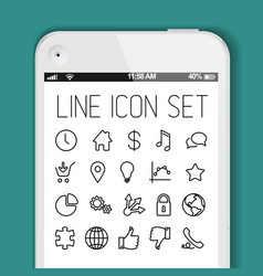 simple modern thin icon collection for smart vector image