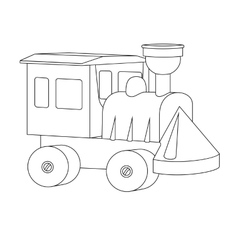 Small toy train from the designer vector