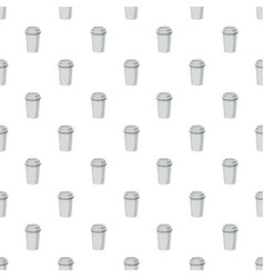 Take away paper cup pattern vector