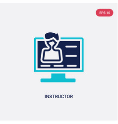 Two color instructor icon from e-learning and vector