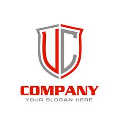 Uc initial logo design vector