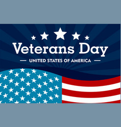 veterans day concept background flat style vector image