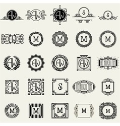 Vintage Monogram Design Templates Icons Symbols vector