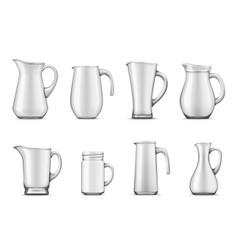 White pitcher or jug jar mug or cup 3d tableware vector