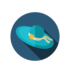 Beach hat flat icon Summer Vacation vector image