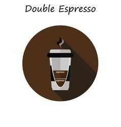 coffee double espresso vector image vector image