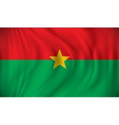 Flag of Burkina Faso vector image vector image